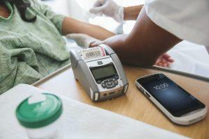 Zebra Healthcare TC51 mobile computer & QLn220-HC mobile printer