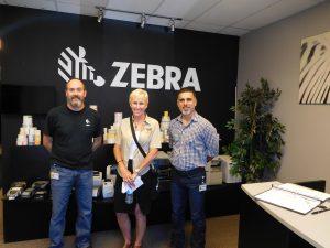 Linda Allen Visits Zebra Label Plant