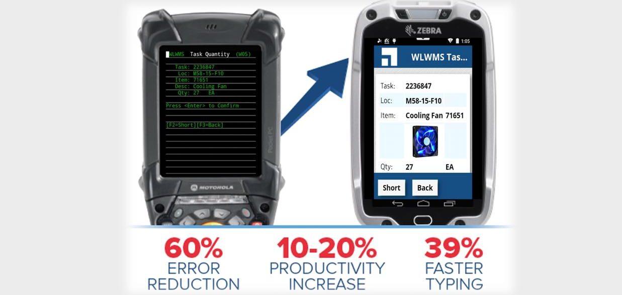 Zebra Mobile Touch Computer TC8000