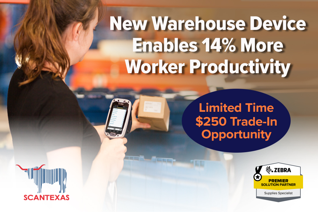 Scan Texas TC8000 Enables 14% More Worker Productivity